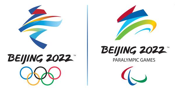 北京2022年冬奧會會徽冬夢和冬殘奧會會徽飛躍